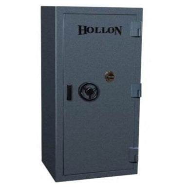 Hollon EMP-6333 EMP TL-15 Tactical Gun Safe in Stealth Charcoal With Doors Closed, Front View