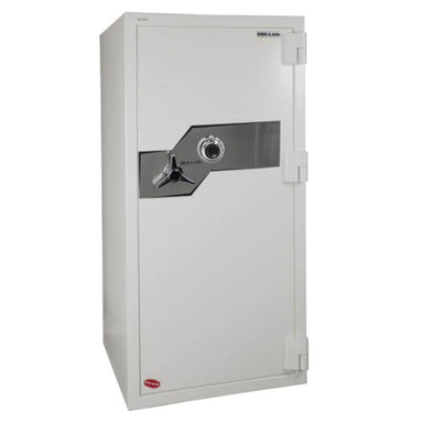 Hollon FB-1055C Fire & Burglary Safe with Dial Locks, Door Closed and Viewed From the Front