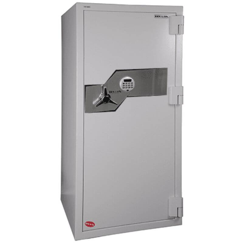 Hollon FB-1055E Fire & Burglary Safe with Electronic Locks, Door Closed and Viewed From the Front