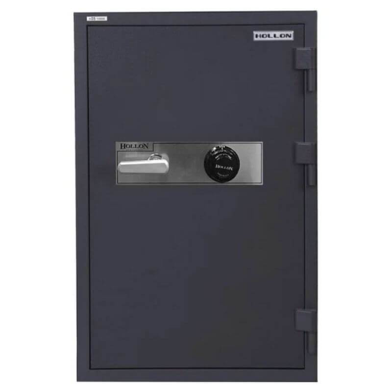 Hollon HDS-1000C Data Safe with Dial Locks. Door Closed and Viewed From the Front