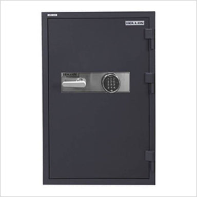 Hollon HDS-1000E Data Safe with Electronic Locks. Door Closed and Viewed From the Front