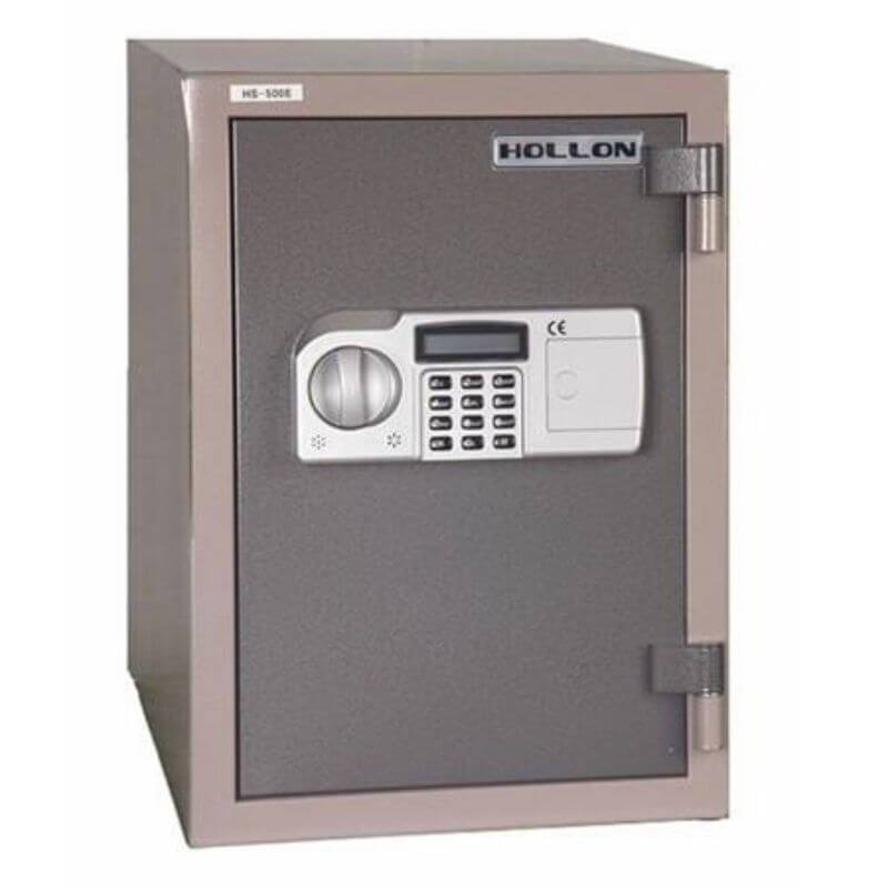 Hollon HDS-500E Data Safe with Electronic Locks. Door Closed and Viewed From the Front