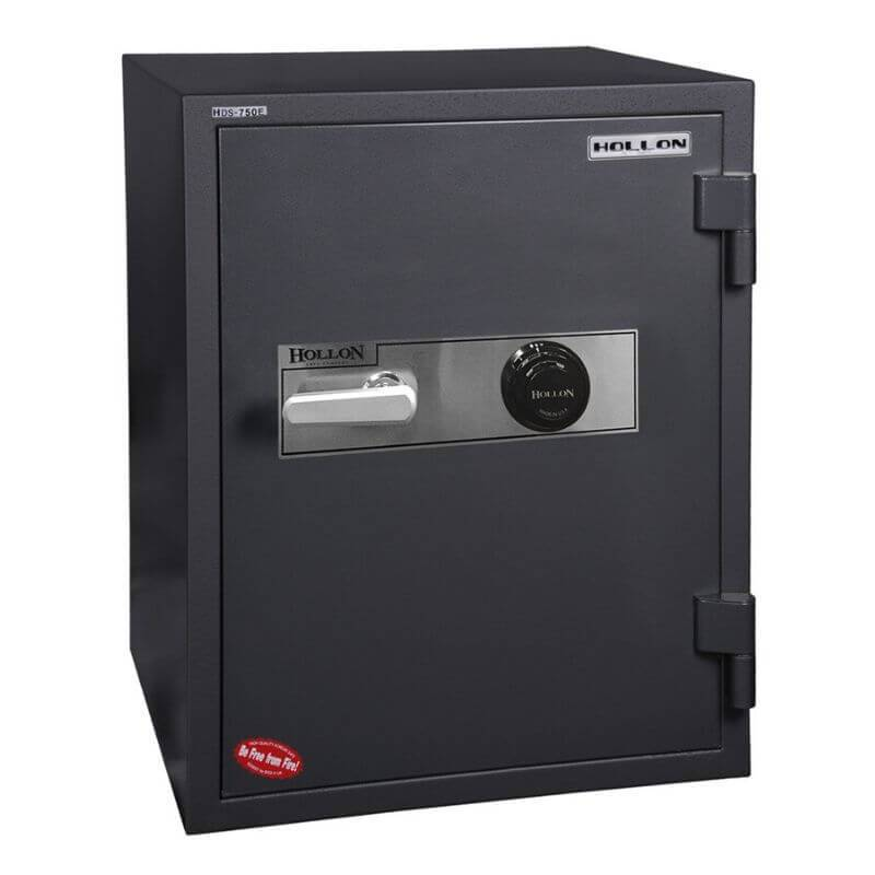Hollon HDS-750C Data Safe with Dial Locks. Door Closed and Viewed From the Front