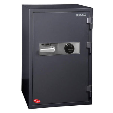 Hollon HS-1000C Office Safe with Dial Locks and Doors Closed. Viewed from the Front Left