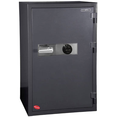 Hollon HS-1200C Office Safe with Dial Locks and Doors Closed. Viewed from the Front Left