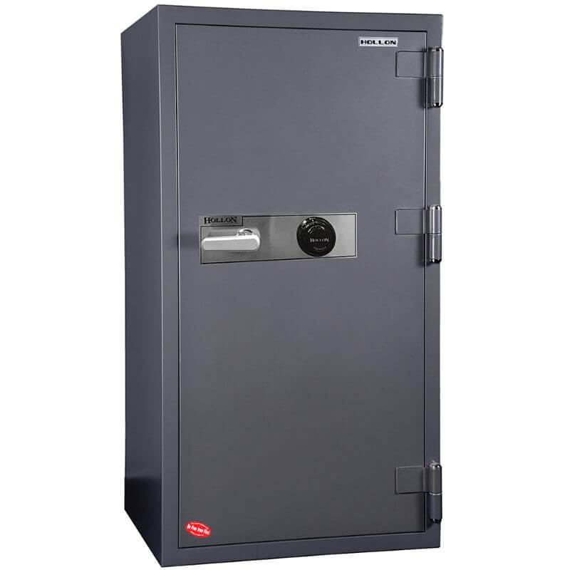 Hollon HS-1400C Office Safe with Dial Locks and Doors Closed. Viewed from the Front Left