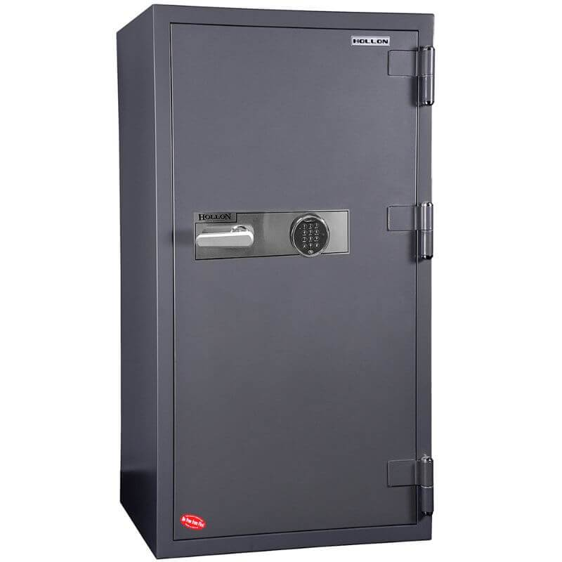 Hollon HS-1400C Office Safe with Electronic Locks and Doors Closed. Viewed from the Front Left