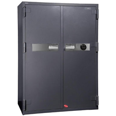 Hollon HS-1750C Office Safe with Dial Locks and Doors Closed. Viewed from the Front Left
