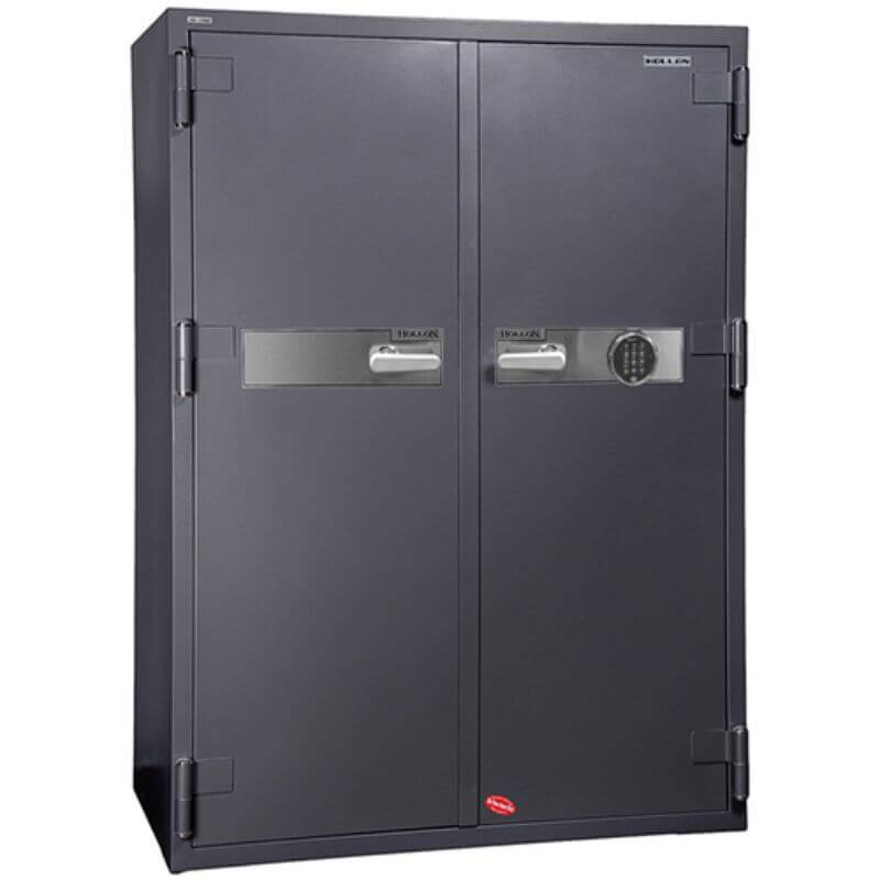 Hollon HS-1750C Office Safe with Electronic Locks and Doors Closed. Viewed from the Front Left