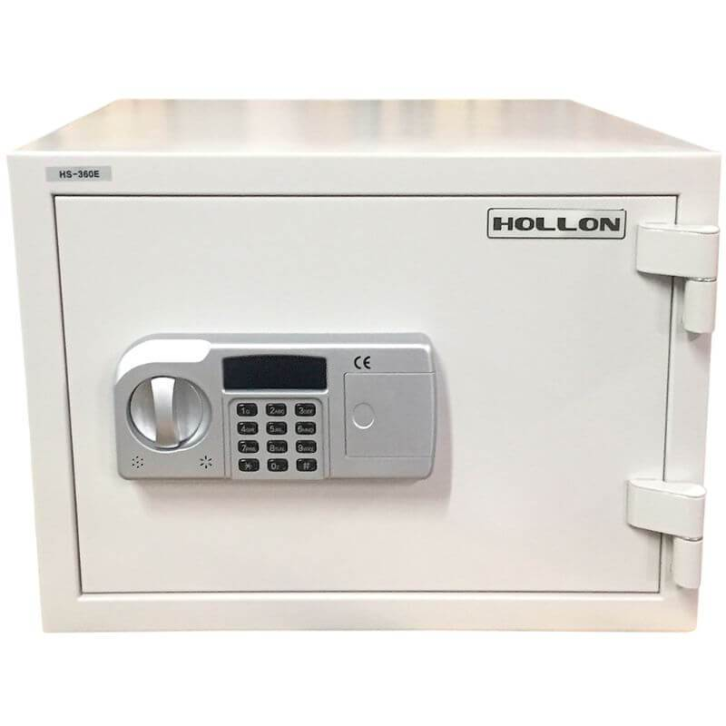 Hollon HS-360D Home Safe with Electronic Locks and Door Closed. Viewed from the Front Left