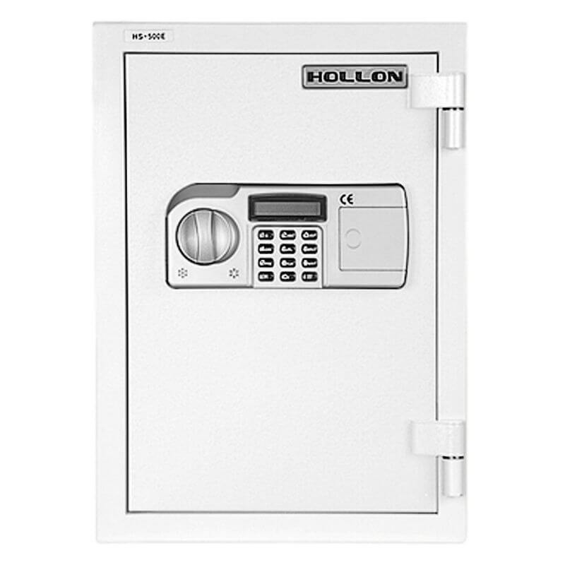 Hollon HS-500D Home Safe with Electronic Locks and Door Closed. Viewed from the Front Left