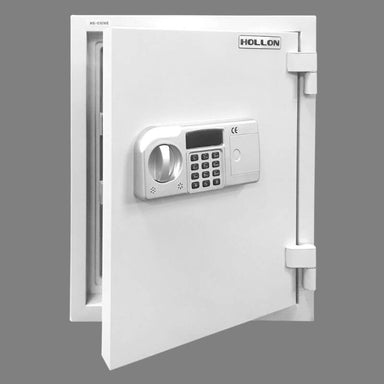 Hollon HS-530D Home Safe with Dial Locks and Door Partially Opened