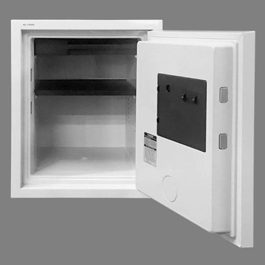 Hollon HS-530E Home Safe with Electronic Locks and Door Opened, Revealing Shelf Interior