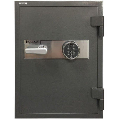 Hollon HS-750E Office Safe with Electronic Locks and Doors Closed. Viewed from the Front