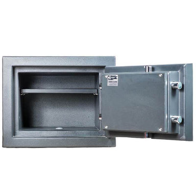 Hollon MJ-1014C TL-30 Rated Safe with Dial Lock and Door Opened Showing Interior Shelving
