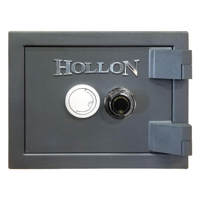 Hollon MJ-1014E TL-30 Rated Safe with Dial Lock, Door Closed and Viewed Directly from the Front