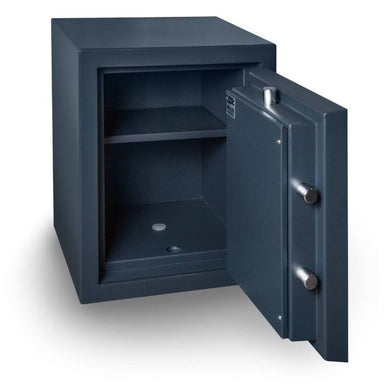 Hollon MJ-1814E TL-30 Rated Safe with Electronic Lock and Door Opened Showing Interior Shelving
