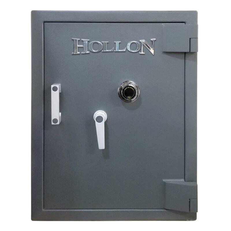 Hollon MJ-2618E TL-30 Rated Safe with Dial Lock, Door Closed and Viewed Directly from the Front