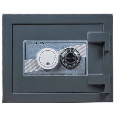 Hollon PM-1014C TL-15 Rated Safe with Dial Lock, Door Closed and Viewed Directly from the Front