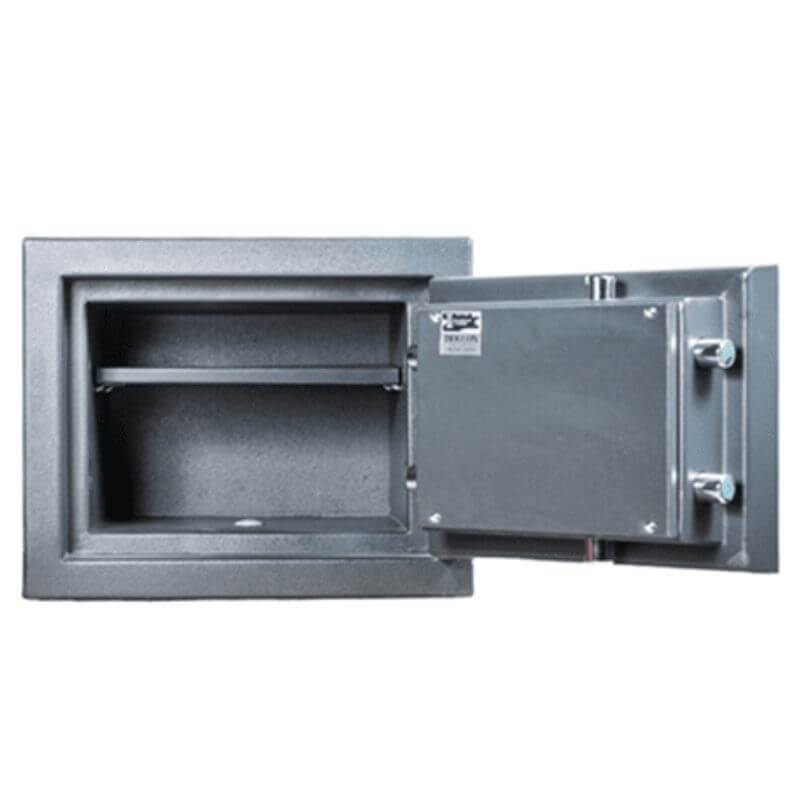 Hollon PM-1014C TL-15 Rated Safe with Electronic Lock and Door Opened Showing Interior Shelving