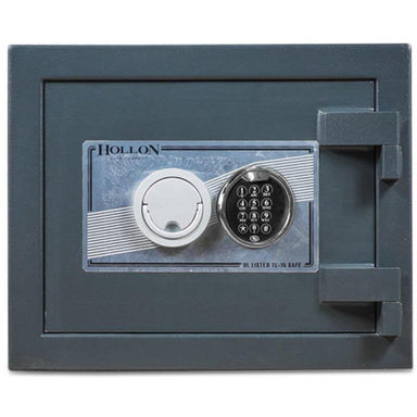Hollon PM-1014E TL-15 Rated Safe with Dial Lock, Door Closed and Viewed Directly from the Front