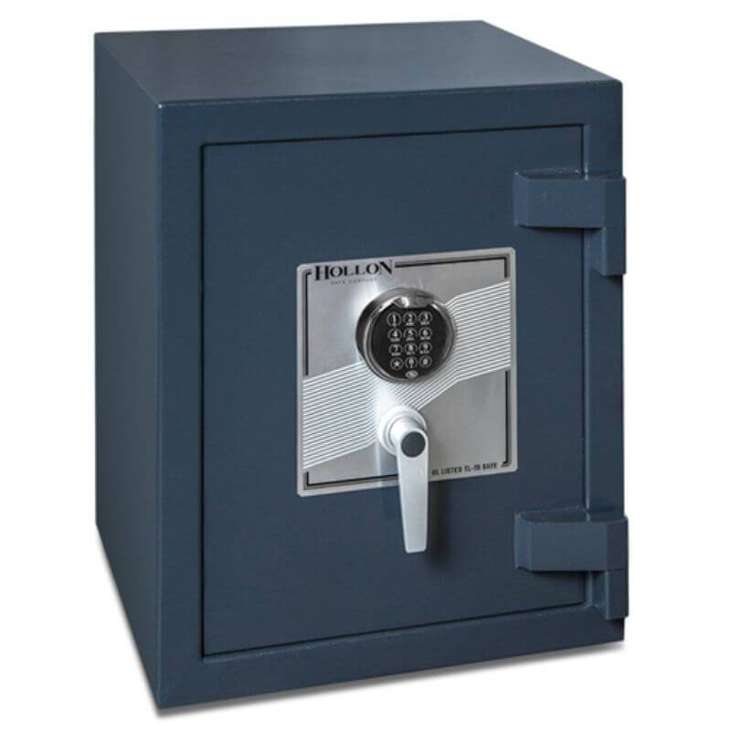 Hollon PM-1814C TL-15 Rated Safe with Electronic Lock, Door Closed and Viewed Directly from the Front