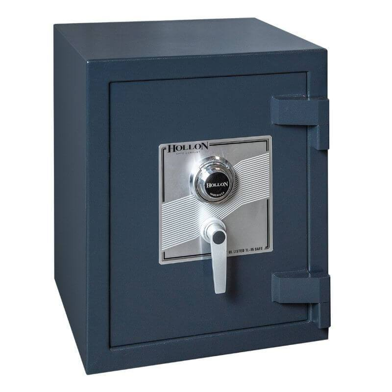 Hollon PM-1814C TL-15 Rated Safe with Dial Lock, Door Closed and Viewed Directly from the Front