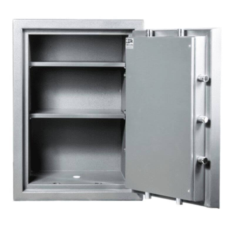 Hollon PM-2819E TL-15 Rated Safe with Electronic Lock and Door Opened Showing Interior Shelving