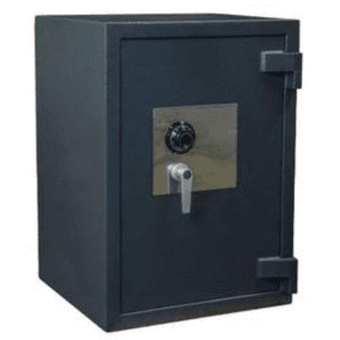 Hollon PM-2819E TL-15 Rated Safe with Dial Lock, Door Closed and Viewed Directly from the Front