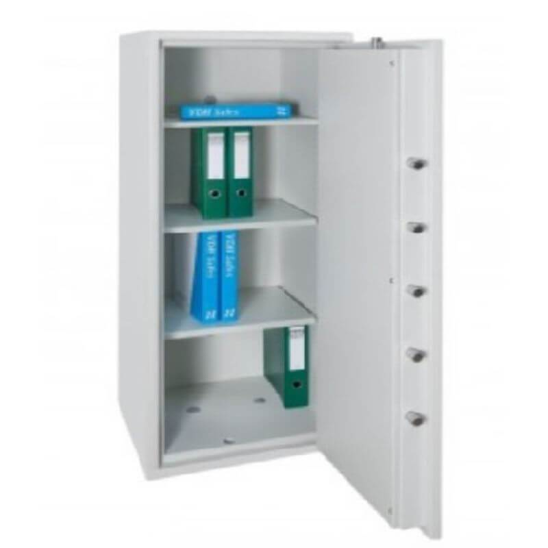 Hollon PM-5024E TL-15 Rated Safe with Electronic Lock and Door Opened Showing Interior Shelving