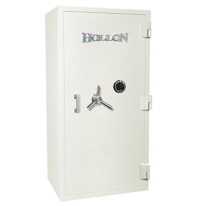 Hollon PM-5024E TL-15 Rated Safe with Dial Lock, Door Closed and Viewed Directly from the Front