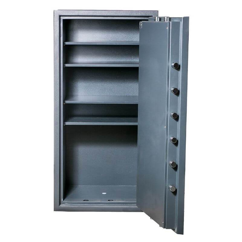 Hollon PM-5826E TL-15 Rated Safe with Electronic Lock and Door Opened Showing Interior Shelving