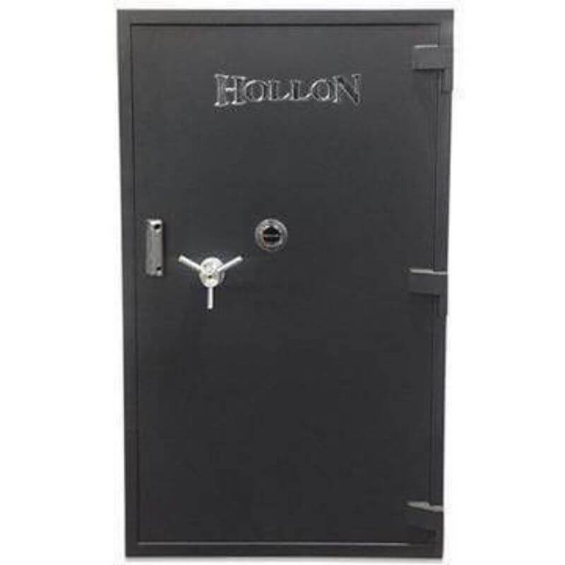 Hollon PM-5837C TL-15 Rated Safe with Dial Lock, Door Closed and Viewed Directly from the Front