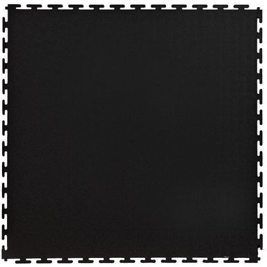 "Lock-Tile PVC Smooth Tiles (19.625"" x 19.625"") in Black Shown From the Top"
