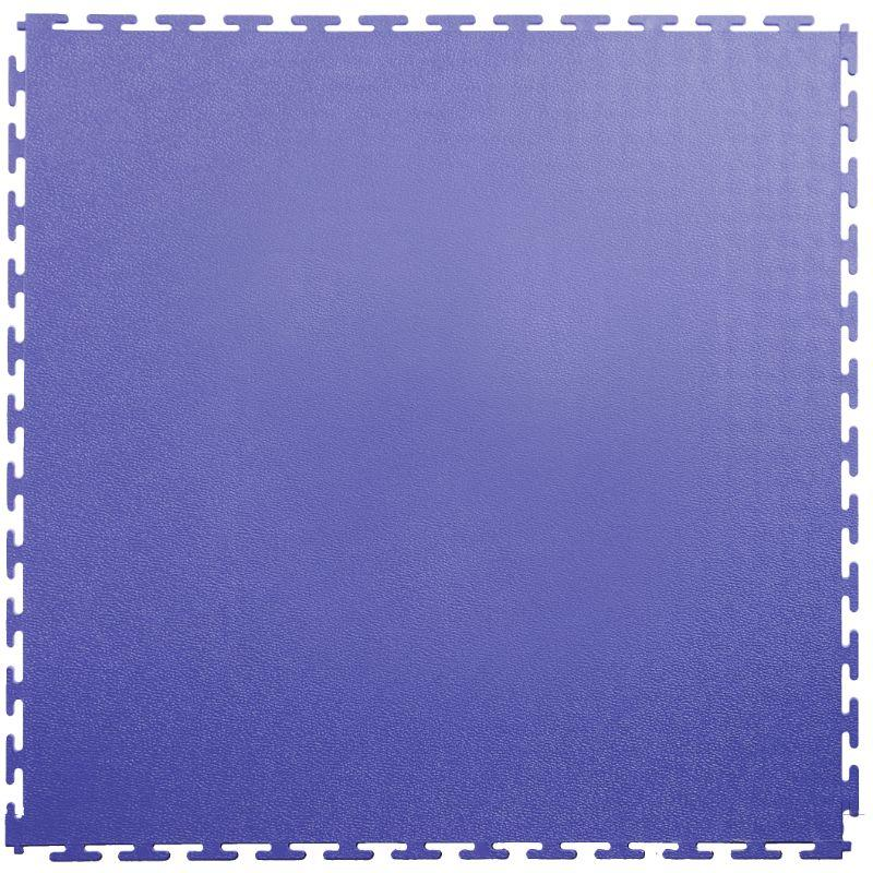 "Lock-Tile PVC Smooth Tiles (19.625"" x 19.625"") in Blue Shown From the Top"