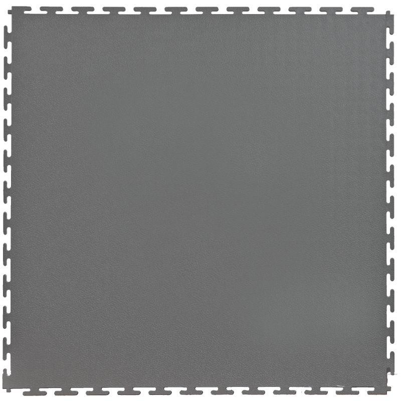 "Lock-Tile PVC Smooth Tiles (19.625"" x 19.625"") in Dark Grey Shown From the Top"