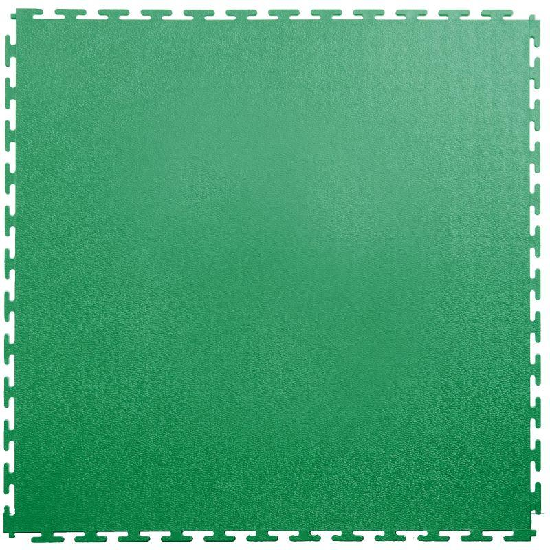 "Lock-Tile PVC Smooth Tiles (19.625"" x 19.625"") in Green Shown From the Top"