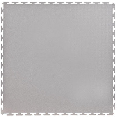 "Lock-Tile PVC Smooth Tiles (19.625"" x 19.625"") in Light Gray Shown From the Top"