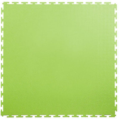 "Lock-Tile PVC Smooth Tiles (19.625"" x 19.625"") in Neon or Light Green Shown From the Top"