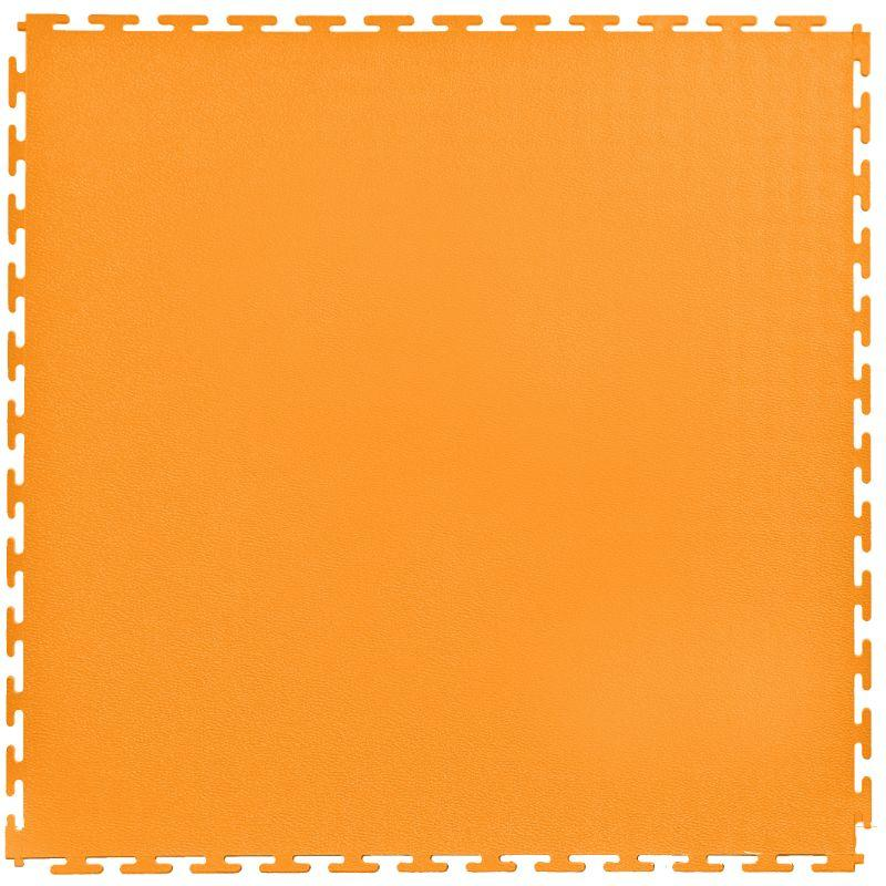"Lock-Tile PVC Smooth Tiles (19.625"" x 19.625"") in Orange Shown From the Top"