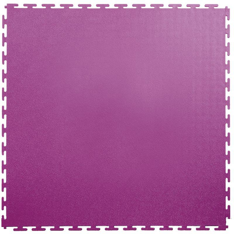 "Lock-Tile PVC Smooth Tiles (19.625"" x 19.625"") in Purple Shown From the Top"