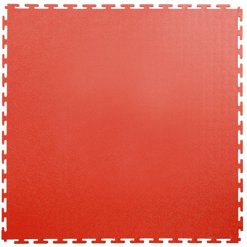"Lock-Tile PVC Smooth Tiles (19.625"" x 19.625"") in Red Shown From the Top"