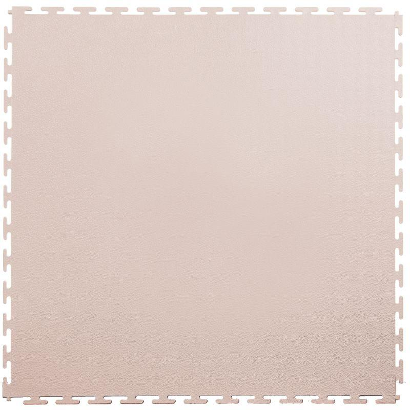 "Lock-Tile PVC Smooth Tiles (19.625"" x 19.625"") in Tan Color Shown From the Top"