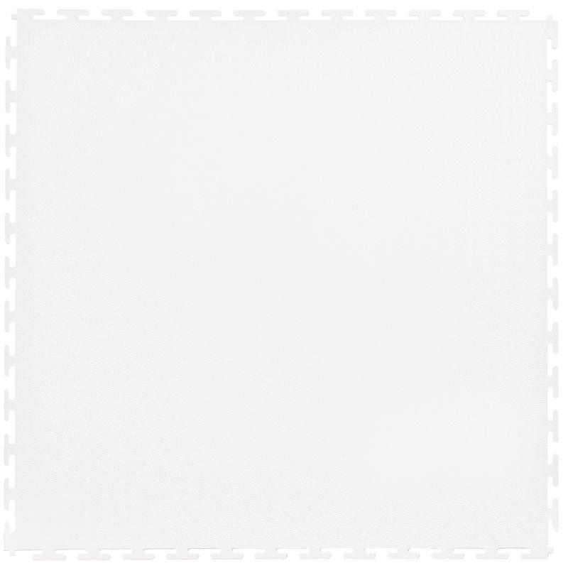 "Lock-Tile PVC Smooth Tiles (19.625"" x 19.625"") in White Shown From the Top"