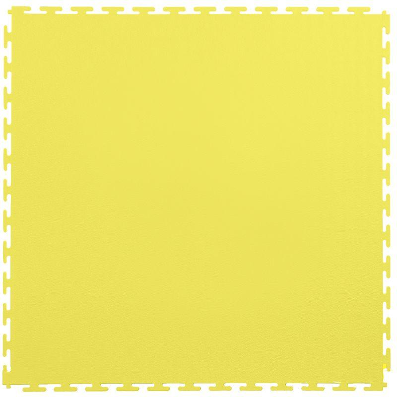 "Lock-Tile PVC Smooth Tiles (19.625"" x 19.625"") in Yellow Shown From the Top"