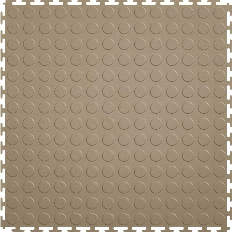 Perfection Floor Tile Vinyl Coin Tiles in Beige Shown from the Top