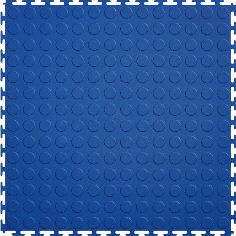 Perfection Floor Tile Vinyl Coin Tiles in Blue Shown from the Top