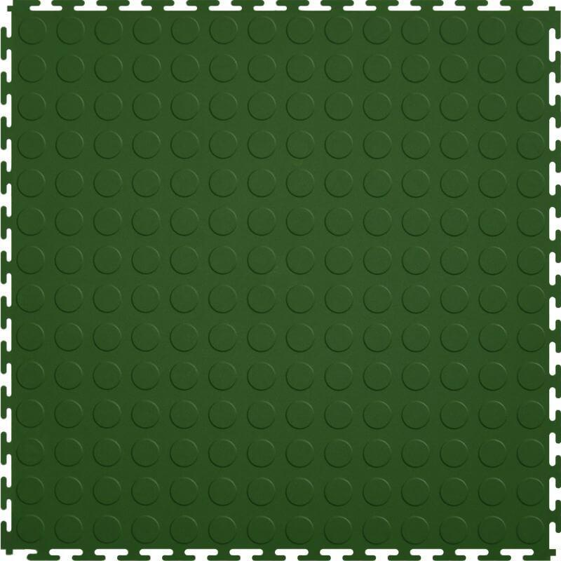 Perfection Floor Tile Vinyl Coin Tiles in Green Shown from the Top