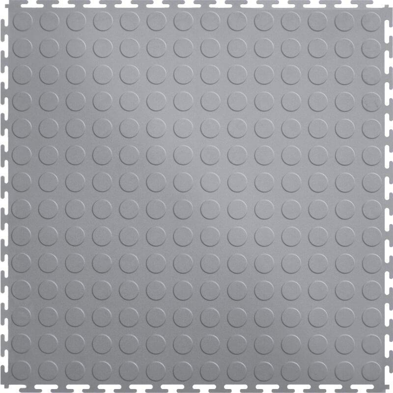 Perfection Floor Tile Vinyl Coin Tiles in Light Gray Shown from the Top