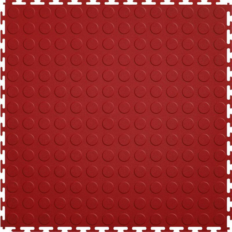 Perfection Floor Tile Vinyl Coin Tiles in Red Shown from the Top